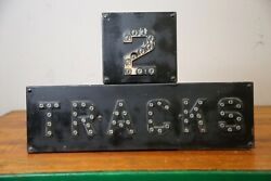 Vintage Railroad Sign 2 Tracks Cast Iron With Glass Marbles Rail Road Train Usa