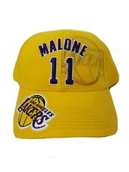 Los Angeles Lakers Hat Adjustable Made By Drew Pearson Karl Malone 11