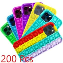 200 Pcs Pop It Phone Case For Iphone 12 11 Pro Xr Xs Max Silicone Case 200 Units