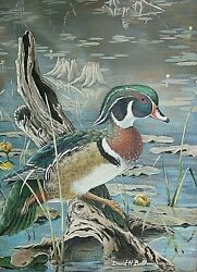 Illustrative Duck Painting Fred Trost Outdoor Digest Michigan D.bollman Hunting