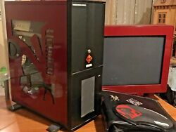 Rare Red Voodoo Computer Gaming Case Computer 2009 And Original Red Dec Monitor