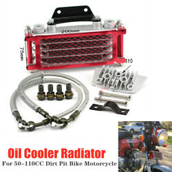 Universal Motorcycle Engine Oil Cooler Radiator For 50 70 90 110cc Dirt Pit Bike