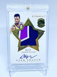 2019-20 Nba Flawless Andrew Wiggins Gold Star Swatch Patch Auto Sp 9/10 Rare🔥