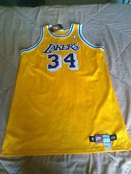 Los Angeles Lakers Player Issued Jersey Shaquille O'neil Nike Bnwt Men's Size 56