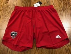 New Adidas Mls Authentic Dc D.c. United Red Aeroready Soccer Shorts Size 2xl Xxl