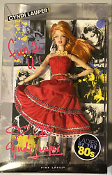 Cyndi Lauper Signed Autographed Barbie Doll Nib Ladies Of The 80andrsquos Near Mint