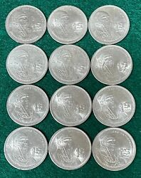 Circulated 1 Peso Coins From Mexico Dated 1985 Quantity Of 12