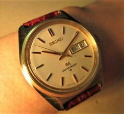Grand Seiko Cap Gold 6146-8000 White Yellow Gold Automatic Japan Excellent+++