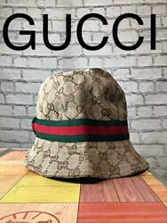 Gucci Bucket Hat Polyester Beg Size:L Mens Used Excellent from Japan Auth $302.99