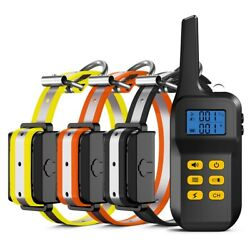 1100 Yard Remote Auto Rechargeable Dog Training Collar Anti Bark For 1 2 3 Pet