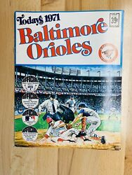 Mlb Today's 1971 Baltimore Orioles Complete Stamp Book And Schedule