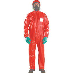 Ansell Rd96-t-92-111-06 Chem Res Hooded Coverall Red 2xl Pk20