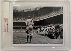 2000s Babe Ruth The Babe Bows Out Pulitzer Prize Psa Type 4 Photograph Yankees