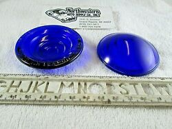 1 Yankee Metal Products BLUE glass lens 2 1 2quot; OD and 9 16quot; tall