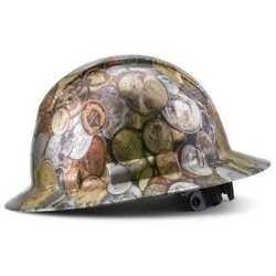 Acerpal 1mn2wh6mc-c Full Brim Pyramex Abs Hard Hat Coin Star 6 Pt And Chin Strap
