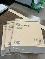New Lot Of 3 Wooden Toilet Seats Slow Quiet Close Cover Molded Round White