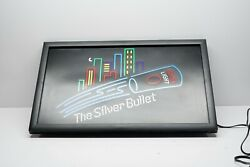 Vintage Coors Light The Silver Bullet Lighted Bar Beer Sign 25 X 15