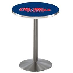 Holland Bar Stool Co. L214s3636mssppu 36 Stainless Steel Ole' Miss Pub