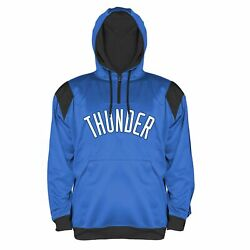Nba Oklahoma City Thunder Men's Big And Tall 1/4 Zip Synthetic Pullover Hoodie,...