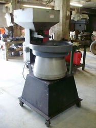 Automation Devices Model 25 36 Bowl Vibratory Feeder And Feed Hopper 120 Volt