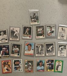 Lot Of 439 Vintage Sports Cards Incl Rare Black And Whites