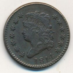 1814 Classic Head Large Cent-plain 4-excellent Detail Very Nice Ships Free