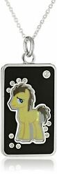 My Little Pony Unisex Fine Silver Plated Crystal Hooves Dog Tag Pendant Necklace
