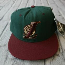 Vintage New Los Angeles Lakers Hat By New Era 5950 90s Fitted Green