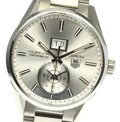 Tag Heuer Carrera War5011 Gmt Calibre 8 Silver Dial Automatic Menand039s Watch_615163