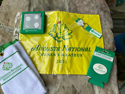 Golf Masters Womens Amateur Combo Gift All Nwt Flag-divot Tool-key Chain-towel