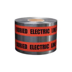 Presco Sd6105r6 Red Detectable Tape Caution Buried Electric Line Below4pk
