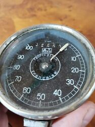 Vintage French Motorcar A.t. Paris Fabrication Francaise Speedometer 100 Km/h