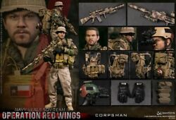 Damtoys 78084 1/6 Navy Seals Medical Male Soldier Operation Red Wing Model Toy