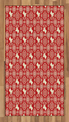 Nordic Area Rug Decorative Flat Woven Accent Rug For Home Decor In 2 Sizes