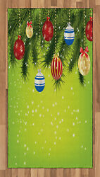 Christmas Area Rug Decorative Flat Woven Accent Rug For Home Decor In 2 Sizes
