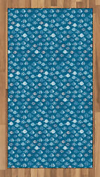 Fishes Area Rug Decorative Flat Woven Accent Rug Home Decor In 2 Sizes