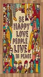 Colorful Quote Area Rug Decorative Flat Woven Accent Rug Home Decor 2 Sizes