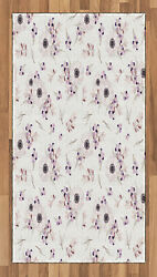 Anemone Flower Area Rug Decor Flat Woven Accent Rug Home Decor 2 Sizes Ambesonne