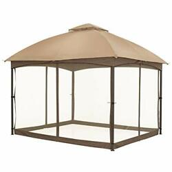 10 X 12 Ft Patio Dome Gazebo W/mosquito Netting Two-tier Vented Top For