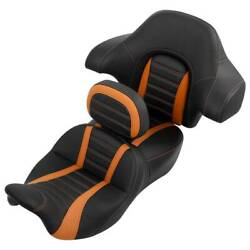 Driver And Passenger Seat Backrest Pad Fit For Harley Touring Road Glide 2014-2021