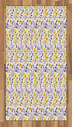 Nature Flowers Area Rug Flat Woven Accent Rug Home Decoration 2 Sizes