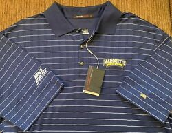 Rare Nike Marquette Golf Tiger Woods Athlete Issue Big East Polo Shirt Men Team