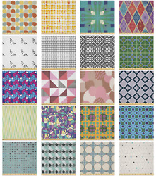 Ambesonne Geometric Theme Microfiber Fabric By The Yard For Arts And Crafts