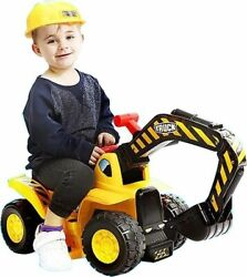 Toy Tractors For Kids Ride On Excavator - Music Sounds Digger Scooter Tractor