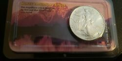 1986 American Silver Eagle In Littleton Coin Packaging - Rare