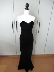 Vintage Black Velvet Evening Gown with Small Train Lillie Rubin $129.00