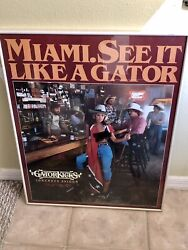Rare Miami See It Like A Gator Tails Native Donna Rice 1982 Topless Poster 22x28