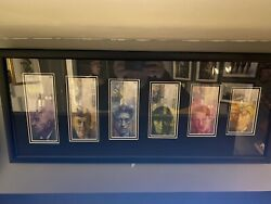 Complete Set Of Eighth Series Swiss Bank Notes Framed Uncirculated