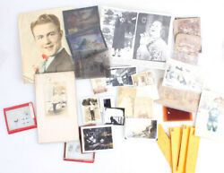 Vintage Photographic Collection Of 30+ Photos Tintypes Negatives Cdvs More
