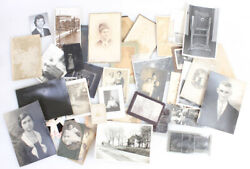 Vintage Photographic Collection Of 60+ Photos Tintypes Negatives More